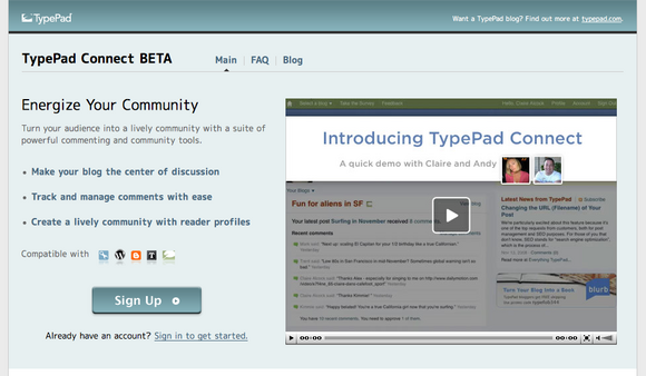 TypePad Connect トップページ