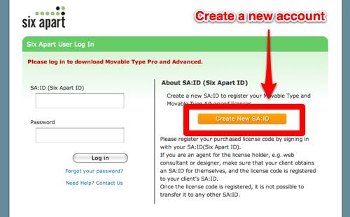 Create a new SA:ID